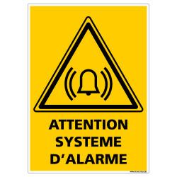 PANNEAU DANGER SYSTEME D'ALARME (C1421)