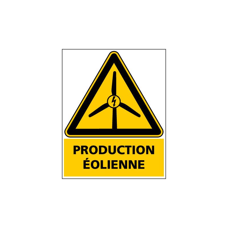 ETIQUETTE AUTOCOLLANTE EOLIENNE - ADHESIF DIMENSIONS 40x50 mm(C1428-PV)
