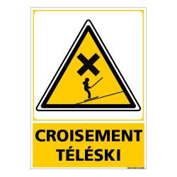 PANNEAU CROISEMENT TELESKI (C1486)
