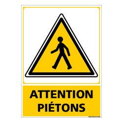 PANNEAU ATTENTION PIETONS (C1487)