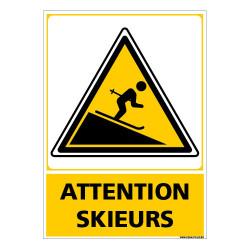 PANNEAU ATTENTION SKIEURS (C1490)