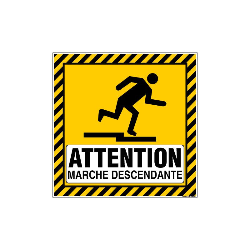 PANNEAU ATTENTION MARCHE DESCENDANTE (C1496)