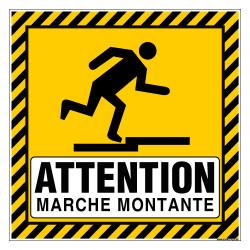 PANNEAU ATTENTION MARCHE MONTANTE (C1497)