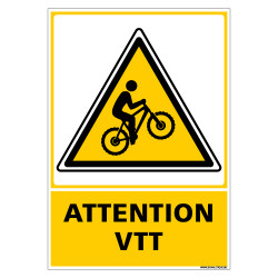 PANNEAU ATTENTION VTT (C1498)