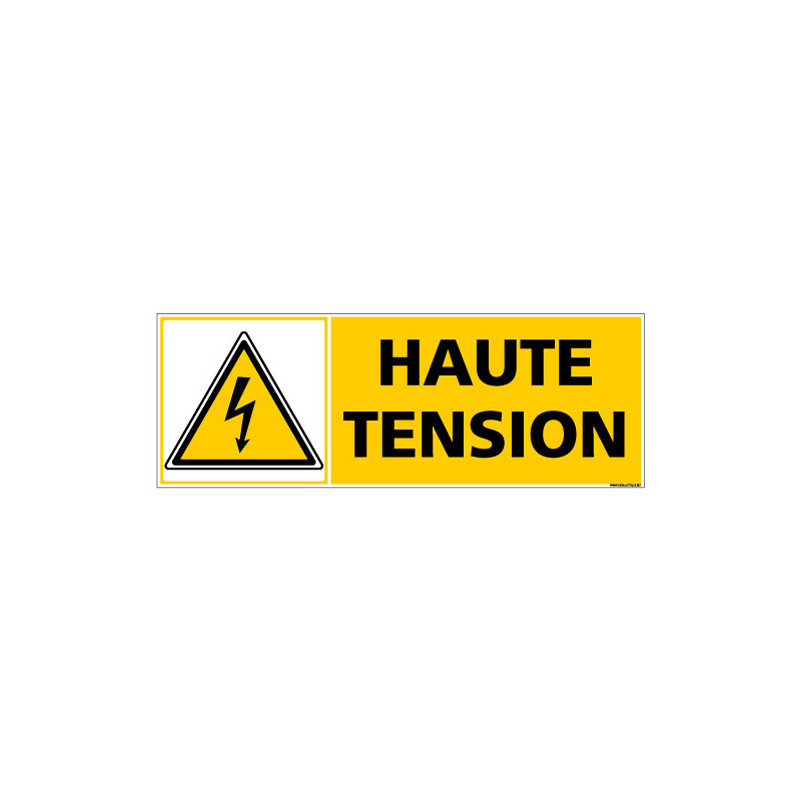 PANNEAU DANGER ELECTRIQUE HAUTE TENSION (C1505)