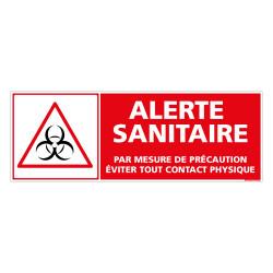 PANNEAU ALERTE SANITAIRE COVID19 - EVITER TOUT CONTACT PHYSIQUE (C1507)