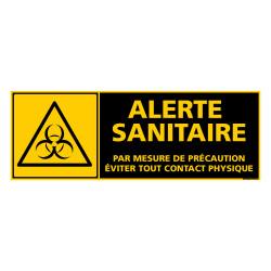 PANNEAU DE SIGNALISATION SPECIAL CORONAVIRUS - ALERTE SANITAIRE COVID-19 - EVITER TOUT CONTACT PHYSIQUE (C1508)