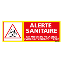 PANNEAU ALERTE SANITAIRE COVID19 - EVITER TOUT CONTACT PHYSIQUE (C1509)
