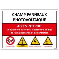 Signaletique CHAMP PANNEAUX PHOTOVOLTAIQUE (D0975)