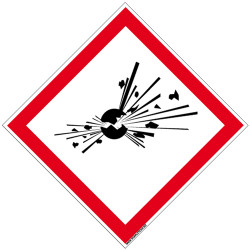 Panneau DANGER MATIERES EXPLOSIVES (SGH01)