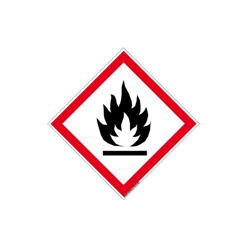 Panneau DANGER MATIERES SOLIDES INFLAMMABLES (SGH02)
