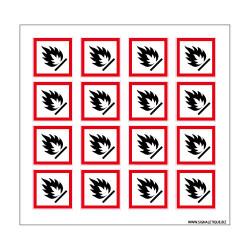 Planche de Pictogrammes MATIERES SOLIDES INFLAMMABLES (SGH02_PL)