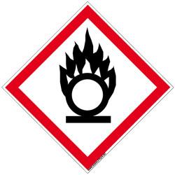 PANNEAU DANGER MATIERES COMBURANTES (SGH03)
