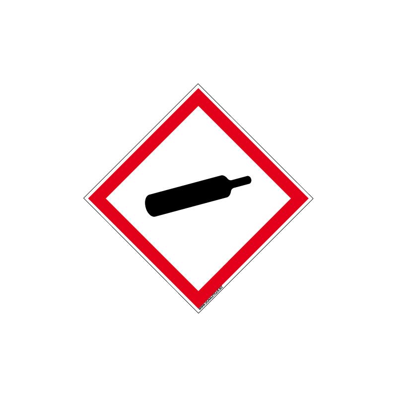Panneau DANGER MATIERES GAZEUSES SOUS PRESSION (SGH04)