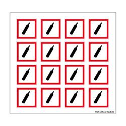 Planche de Pictogrammes MATIERES GAZEUSES SOUS PRESSION (SGH04_PL)