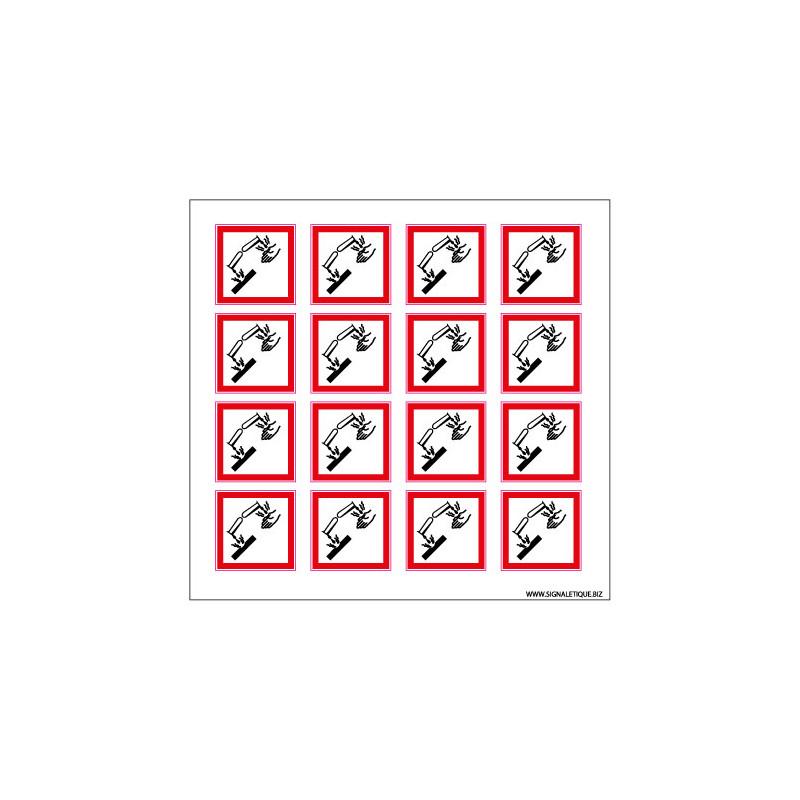 Planche de Pictogrammes MATIERES CORROSIVES (SGH05_PL)