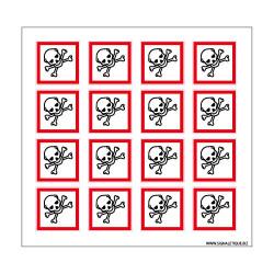 Planche de Pictogrammes MATIERES TOXIQUES (SGH06_PL)