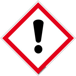 Panneau DANGER SENSIBILISATION CUTANEE, INHALATION, CORROSION OU IRRITATION DES YEUX (SGH07)