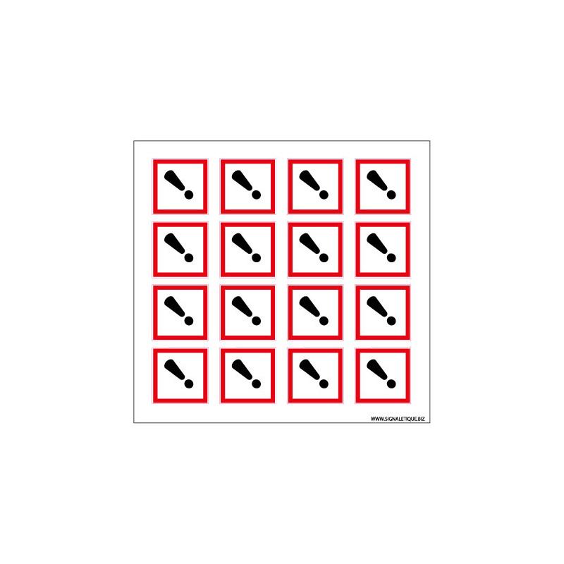 Planche de Pictogrammes RISQUES CUTANES & IRRITATION (SGH07_PL)