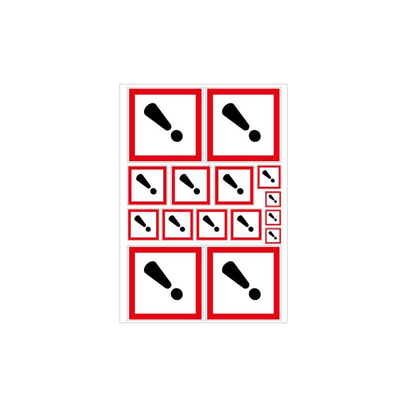 PLANCHE DE STICKERS DANGER (SGH07_PL15)