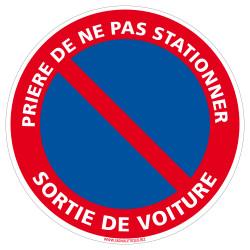 PANNEAU PRIERE DE NE PAS STATIONNER, SORTIE DE VOITURES (L0010)