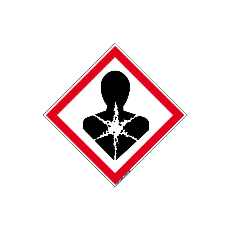 Panneau DANGER RISQUES MUTAGENES, RESPIRATOIRES, CANCERIGENES OU POUR LA REPRODUCTION (SGH08)