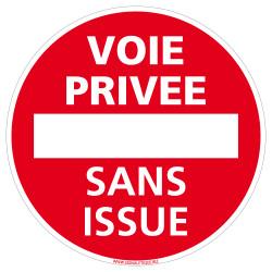 PANNEAU VOIE PRIVEE SANS ISSUE (L0157)