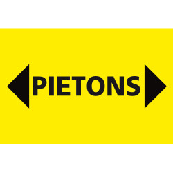 PANNEAU DE CHANTIER PIETONS + FLECHES (W0584)