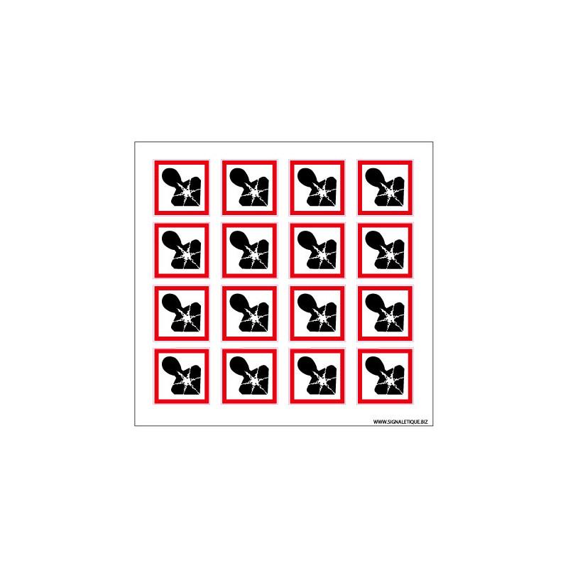 Planche de Pictogrammes RISQUES MUTAGENES, RESPIRATOIRES & CANCERIGENES (SGH08_PL)
