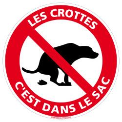 Panneau Les Crottes C'est Dans Le Sac