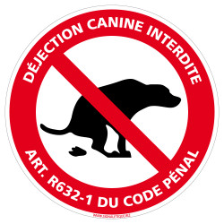 Panneau Déjection Canine...