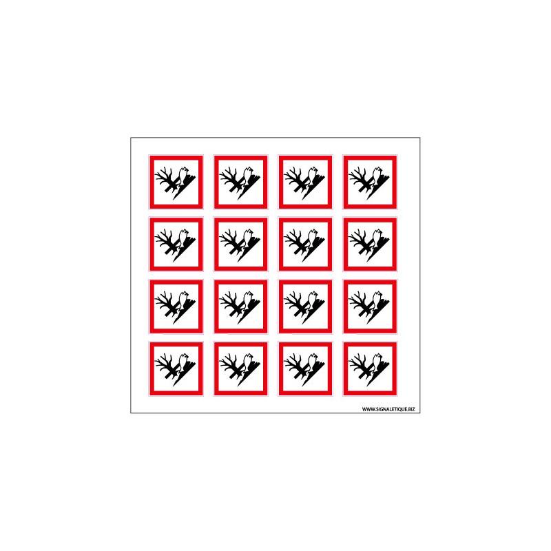 Planche de Pictogrammes RISQUES POUR L'ENVIRONNEMENT (SGH09_PL)