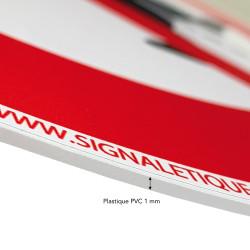 Panneau PVC 1 mm d'épaisseur