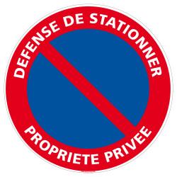 Panneau Défense de...