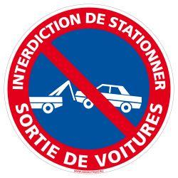 Panneau Interdiction de Stationner Sortie De Voitures