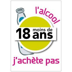 Panneau L'ALCOOL, J'ACHETE PAS (A0347)
