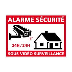 Panneau Alarme Sécurité Sous Vidéo Surveillance 24h/24