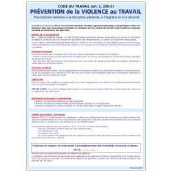 PANNEAU PREVENTION DE LA VIOLENCE AU TRAVAIL (A0349)