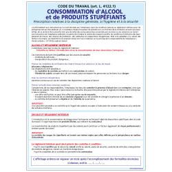 PANNEAU CONSOMMATION D'ALCOOL ET DE PRODUITS STUPEFIANTS (A0351)