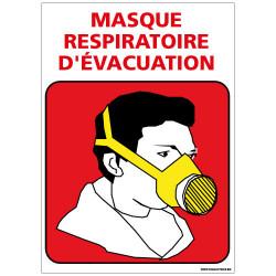 Panneau port du masque respiratoire d'evacuation (A0355)