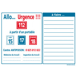 Consignes allo urgence (A0407)