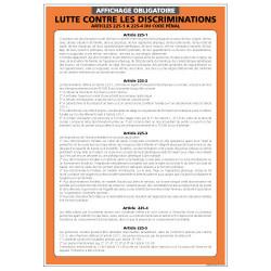 Panneau affichage obligatoire Lutte contre la discrimination (A0517)