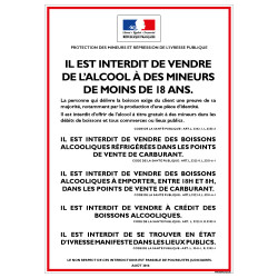 INTERDICTION VENTE ALCOOL AUX MINEURS (POUR POINT DE VENTE CARBURANT) (A0612)