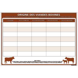 PANNEAU ORIGINE DES VIANDES BOVINES (A0630)