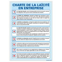 PANNEAU CHARTE DE LA LAœCITE EN ENTREPRISE (A0645)