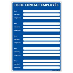 PANNEAU AFFICHAGE OBLIGATOIRE FICHE CONTACT EMPLOYE (A0655)