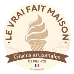 Sticker glaces fait maison, glaces artisanales de France