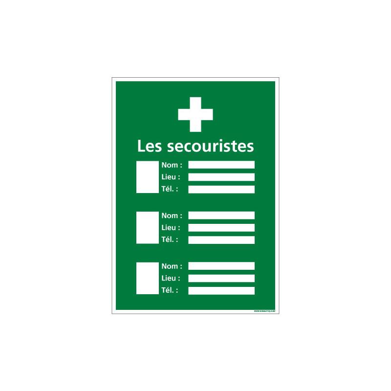 PANNEAU AFFICHAGE SECOURISTE (B0363)