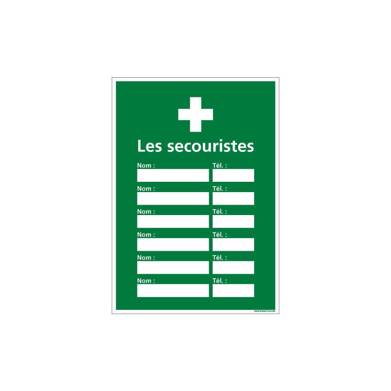 PANNEAU AFFICHAGE SECOURISTE (B0364)