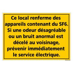 PANNEAU INFORMATIONS CONCERNANT LES APPAREILS CONTENANT DU SF6 (C1480)